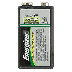 9V Energizer Rechargeable 175mAh