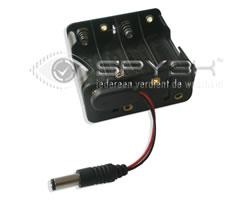 8x AA 9V Herlaadbare / 12V Niet Herlaadbare Batterij Oplossing
