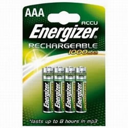 4x AAA Energizer Rechargeable 1000mAh